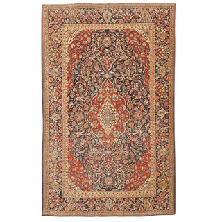 Antique Persian Kashan Rug For Sale