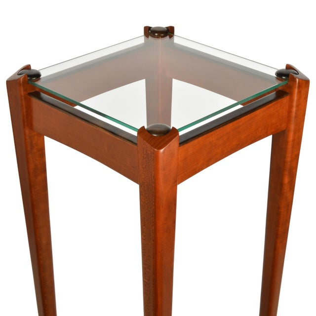 Pair of Custom Made Wood and Glass Display Pedestals For Sale - Image 4 of 8