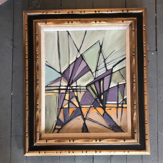 """2010s Original Contemporary Stephen Heigh Abstract Painting """"Purple Mountain Magesty"""" For Sale - Image 5 of 5"""