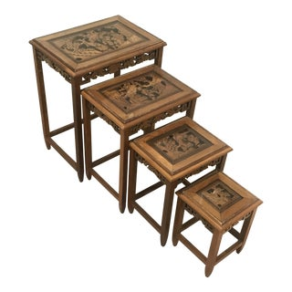 1920s Chinese Nesting Tables - Set of 4