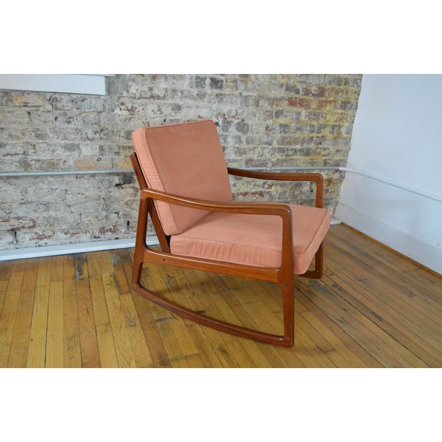 Ole Wanscher Danish Modern Teak Rocking Chair For Sale - Image 6 of 9
