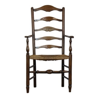 Early 19th Century Vintage Ladder Back Chair For Sale