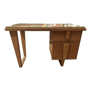 1950s Blonde Wood Desk For Sale