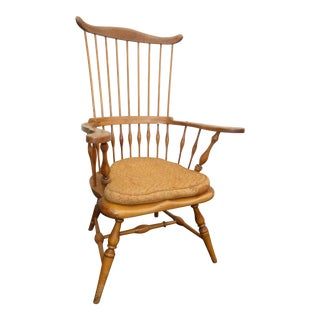 Jean of Topanga Vintage High Banister Windsor Chair Farmhouse Chic For Sale