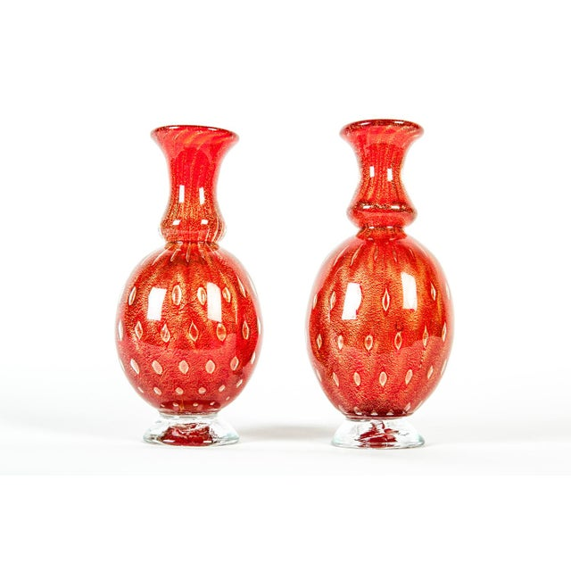 Contemporary Mid Century Murano Decorative Pieces - a Pair For Sale - Image 3 of 3