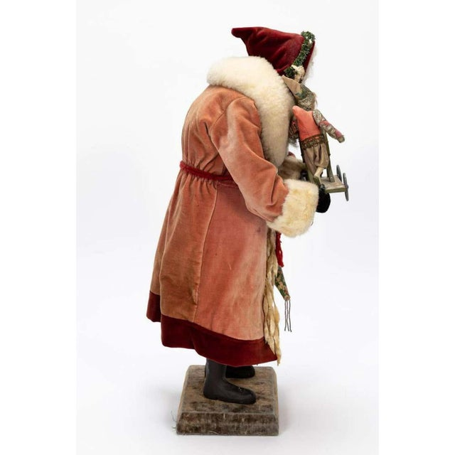 Mid 20th Century Large Vintage Father Christmas Figure For Sale - Image 5 of 8