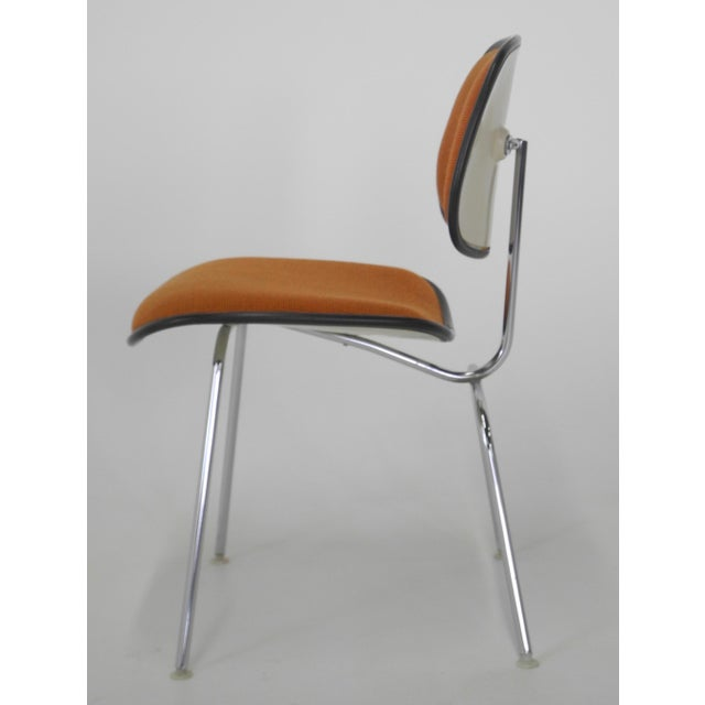 Herman Miller Mid-Century Modern Eames for Herman Miller Padded DCM Chair For Sale - Image 4 of 7