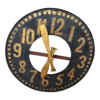 19th C. Belgian Iron Clock Face