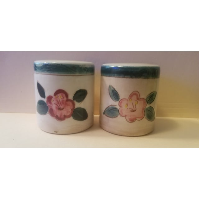 Early Mid Century Stangl Flowers Salt and Pepper Shakers - a Pair For Sale - Image 10 of 10