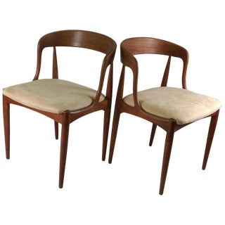 1960s Danish Johannes Anderasen Teak Side Chairs - a Pair