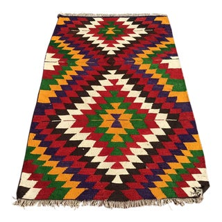 Small Vintage Turkish Kilim For Sale