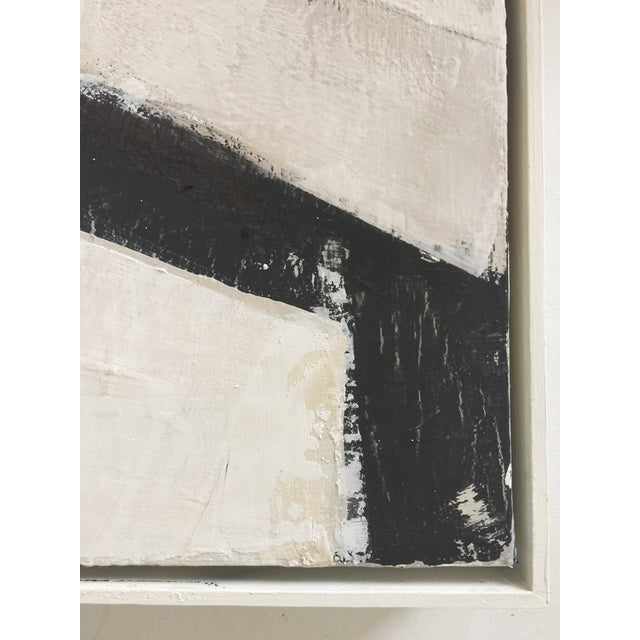 Acrylic Paint Black, White and Beige Abstract Painting For Sale - Image 7 of 8