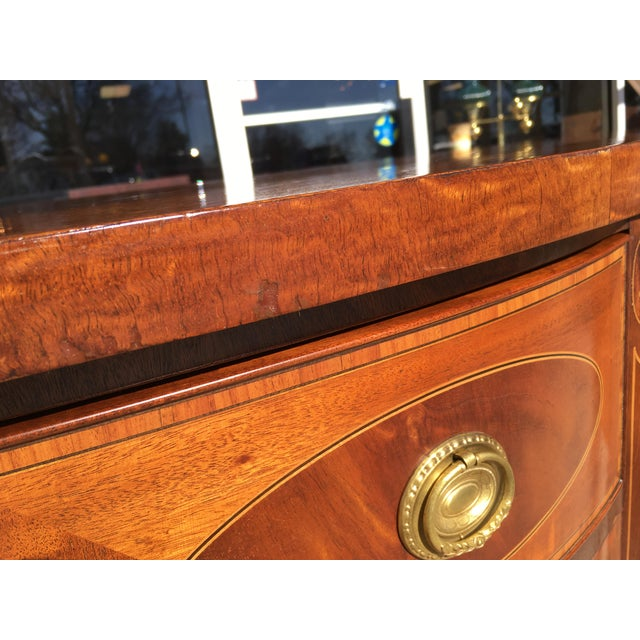 Early 20th Century Mahogany Inlaid Sideboard For Sale - Image 9 of 11