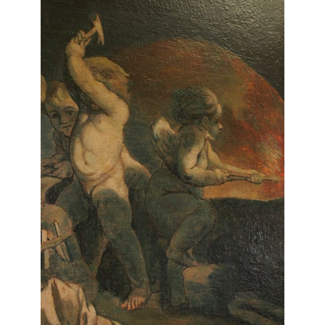 Early 19th Century 19th Century Italian Painting of Putti For Sale - Image 5 of 9
