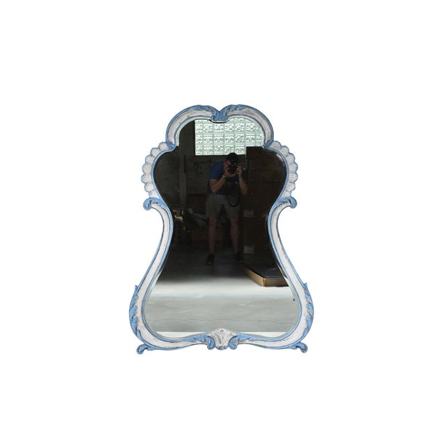La Barge French-Style Blue & White Mirror - Image 2 of 9