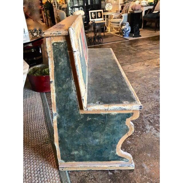 The is a great example of a late 18th century Tuscan pine bench that has been painted in faux marble typical of the period...
