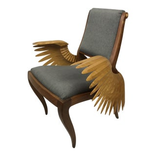 Sculptural Icarus Handcrafted Art Chair With Wings