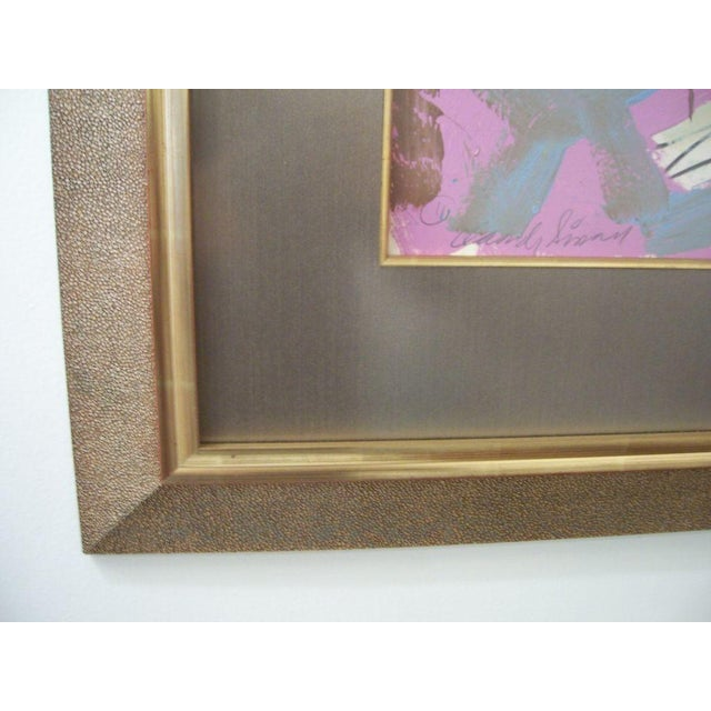 James Lee Hansen A Framed Acrylic on Paper by James Hansen For Sale - Image 4 of 4