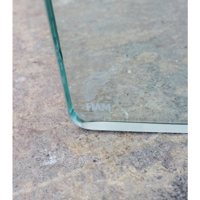 1990s Fiam Italy Molded Glass Table For Sale - Image 5 of 6