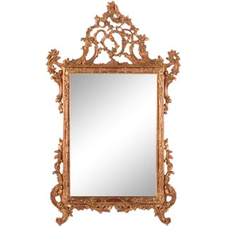 18th Century Italian Hand Carved Mirror For Sale