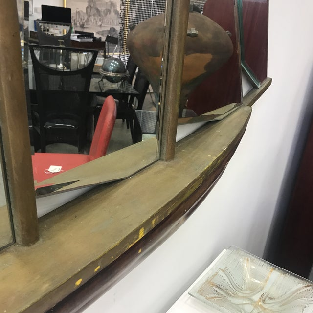 1930s 1930s Art Deco Nautical Ship Wall Mirror For Sale - Image 5 of 13