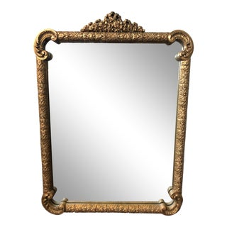 Vintage Gilded Wall MIrror For Sale