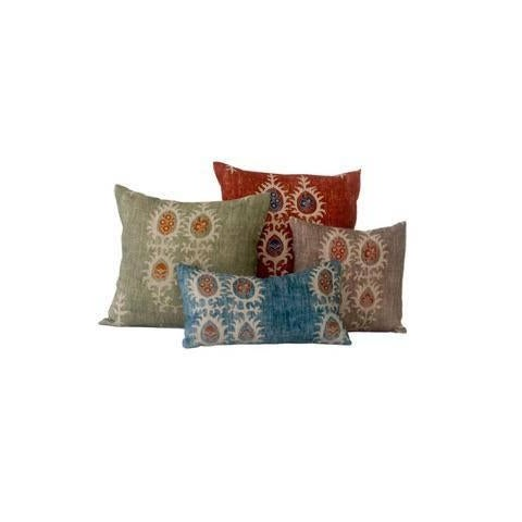 Not Yet Made - Made To Order Red Tribal Flame Pillow Cover For Sale - Image 5 of 7