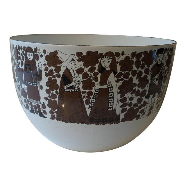 Kaj Franck for Arabia Finland Enamel Metal Bowl For Sale
