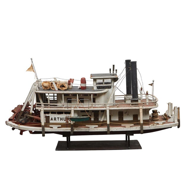 Folk Art Paddle Boat 'Arthur' of Paducah, Ky For Sale - Image 10 of 10
