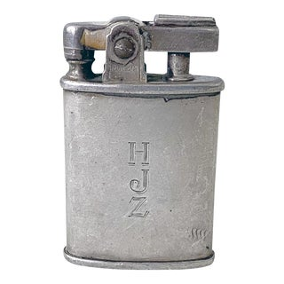 1940s Ronson Sterling Silver Lighter For Sale