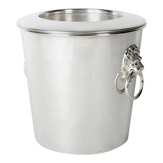 Vintage English Silver Plated Wine Cooler / Ice Bucket For Sale