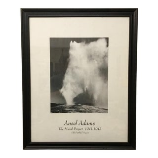Ansel Adams Large Scale Print Old Faithful Geyser For Sale