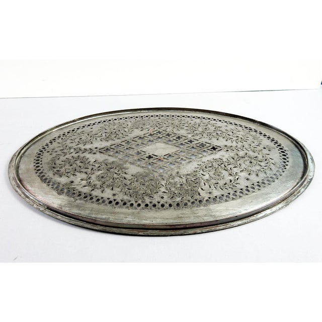 English Traditional Antique Sheffield Silverplate Mazarine For Sale - Image 3 of 4