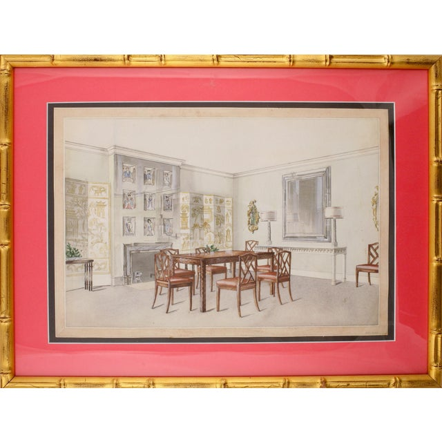 Chinoiserie Dining Room Painting For Sale