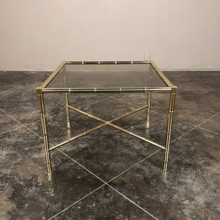 Mid Century Brass Smoked Glass Top End ~ Coffee Table Preview