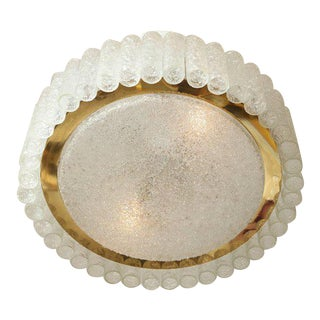 Doria Tubular and Round Flush Mount Fixture For Sale