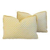 Image of Custom Italian Mariano Fortuny Feather/Down Pillows - Pair For Sale
