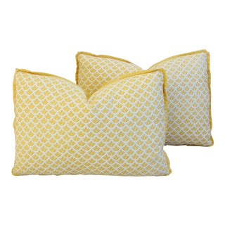 Custom Italian Mariano Fortuny Feather/Down Pillows - Pair