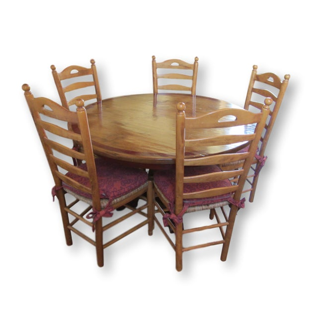 Round Farmhouse Dining Set - Image 2 of 11