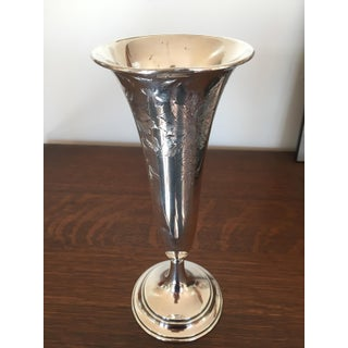 20th Century Traditional Sterling Silver Trumpet Vase Preview