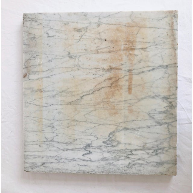 White Antique Marble Remnant Cheeseboard For Sale - Image 8 of 9