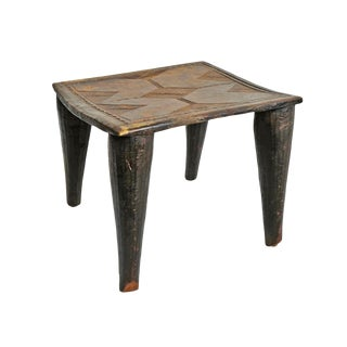 Original Nupe Wood Stool For Sale