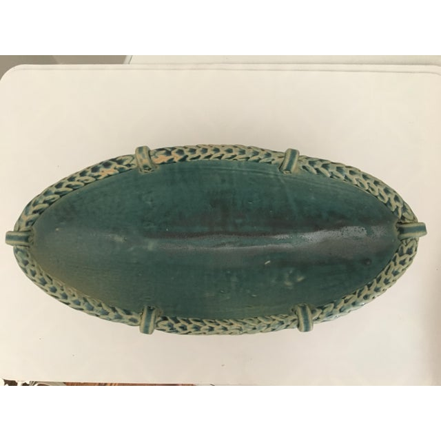 Arts and Crafts Footed Studio Pottery Oblong Bowl - Image 10 of 12