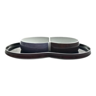 Block Chromatics Serving Set, 2pcs For Sale