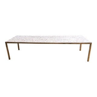 Italian Brass & Tiles Cocktail Table