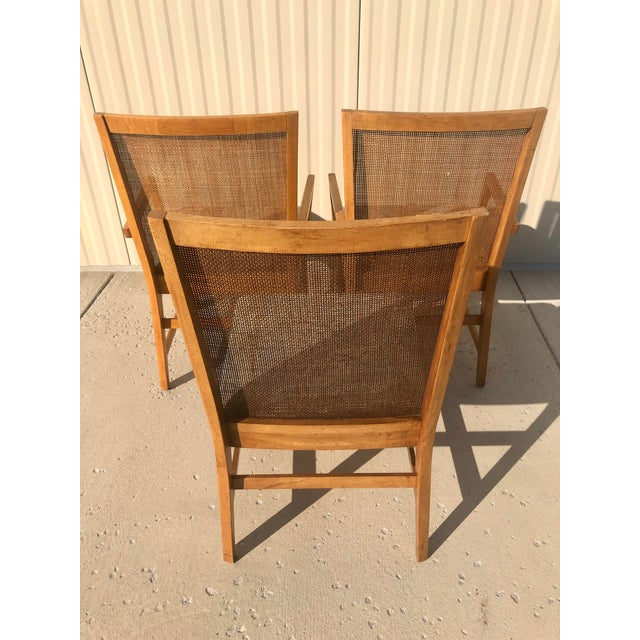 Michael Taylor Michael Taylor for Baker Style Cane Back Dining Chairs - Set of 3 For Sale - Image 4 of 13