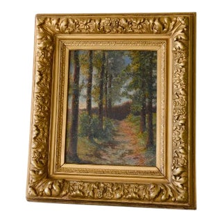 Early 20th Century Small Framed Landscape Painting by Henri Baudinot For Sale