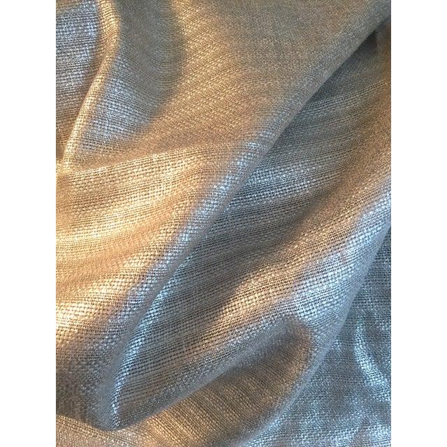 Designer's Guild Silver Sassiere Linen - 1.7 Yds For Sale - Image 5 of 9
