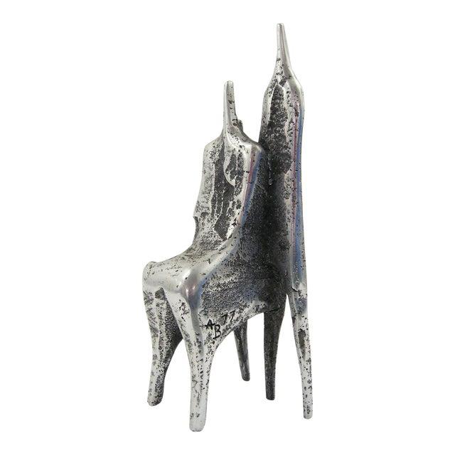 Aluminum sculpture by Aharon Bezalel For Sale