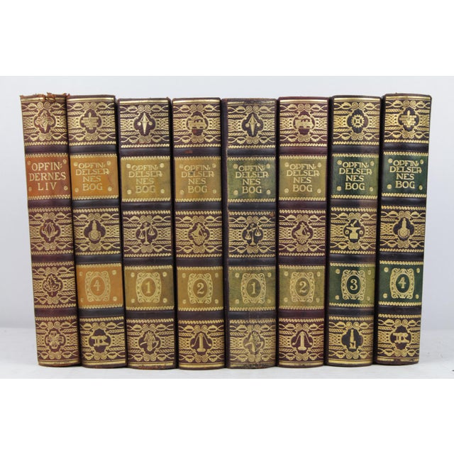 Art Deco Leather-Bound Books - Set of 8 - Image 2 of 4